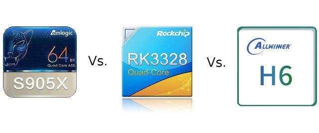 Amlogic S905X vs Rockchip RK3328 vs Allwinner H6