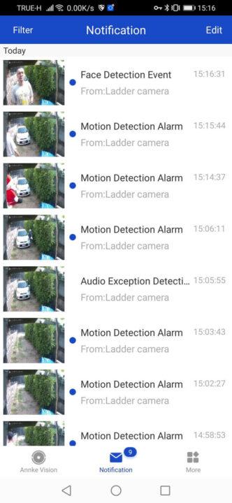 Face-detection-event