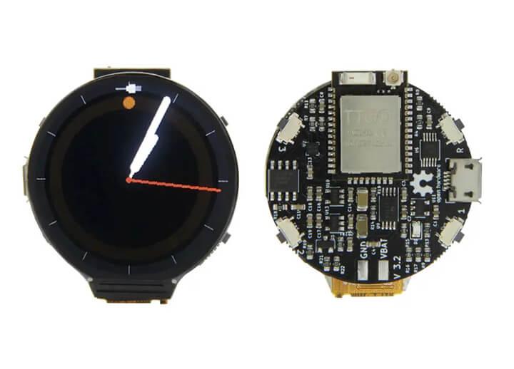 LilyGo同Paul's 3D Things合作推出的ESP32-PICO-D4 SiP圆形智能手表