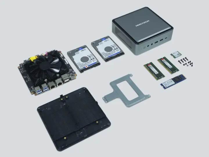 MINISFORUM DeskMini HM50 mini PC内部组件