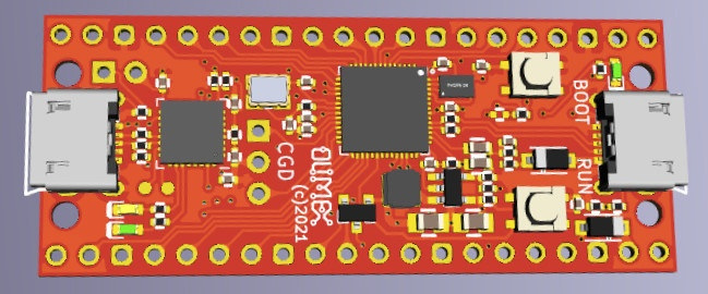 Olimex公司推出的树莓派Pico的兼容模块:RP2040-Py