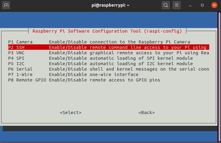 Raspberry Pi Enable SSH