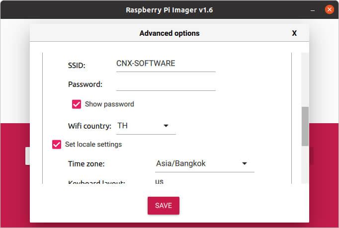 Raspberry Pi Imager 1.6版本(镜像版)界面