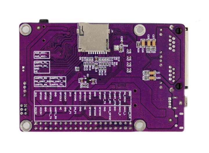 SigmaStar SSD201开发板背面视图