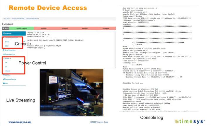 使用嵌入式板场解决方案进行远程设备访问的界面