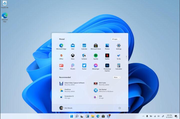 使用Windows 10X的Windows 11外观