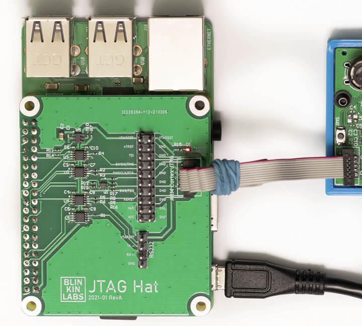 带有Raspberry Pi和Arm Cortex调试电缆的JTAG Hat