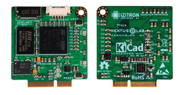 搭载STM32F7 Cortex-M7微控制器的IZIRUNF7开发板