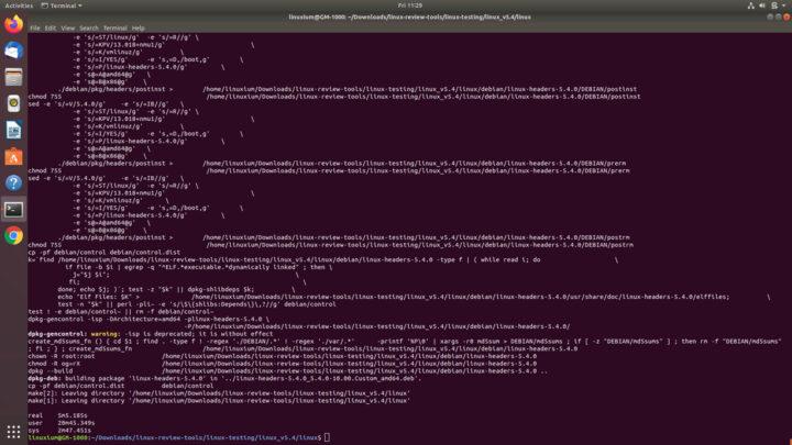 构建 Linux 5.4