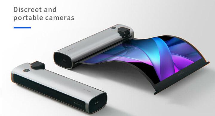 柔性屏开发套件RoKit的应用示例 - 带有收卷显示屏的相机
