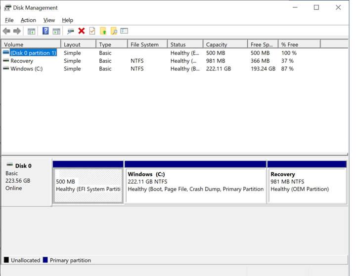 磁盘管理程序测试结果