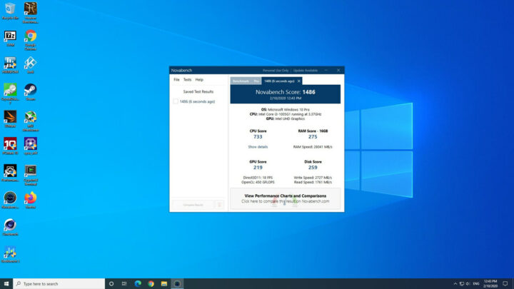 Novabench电脑测速
