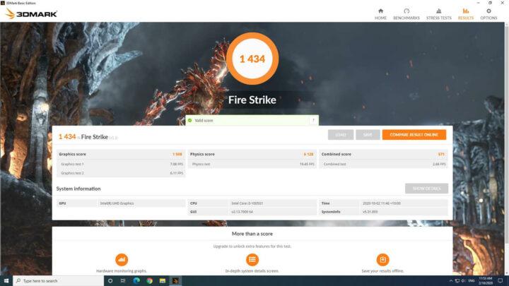 3Dmark fire strike测试