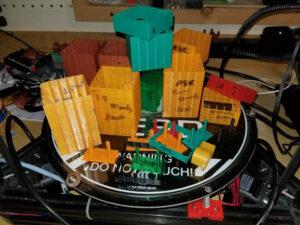 3D 打印机缩回打印的物品展示