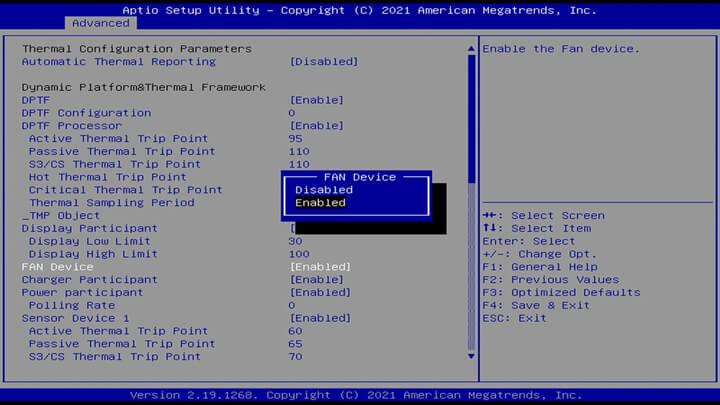 BIOS中的风扇控制设置