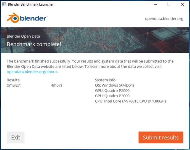 Blender 'BMW' 基准测试