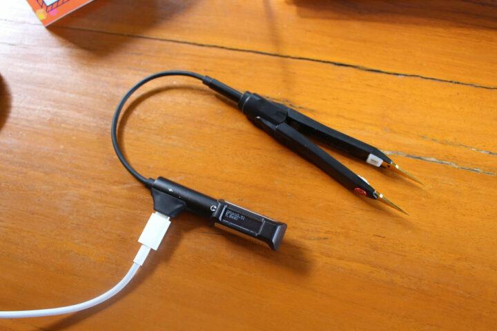 DT71智能镊子音频插孔和数据线连接