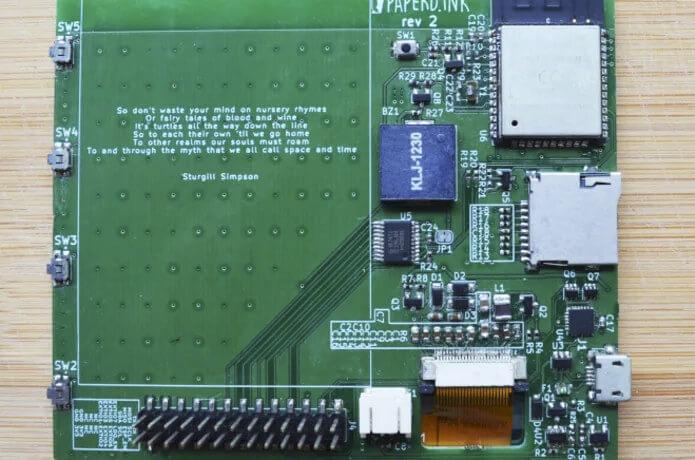 ESP32的ePaper墨水屏显示板