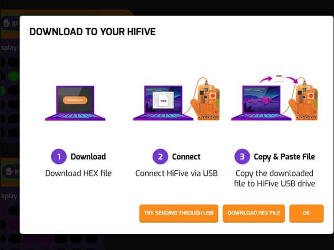 HiFive开发板下载Tynker.hex