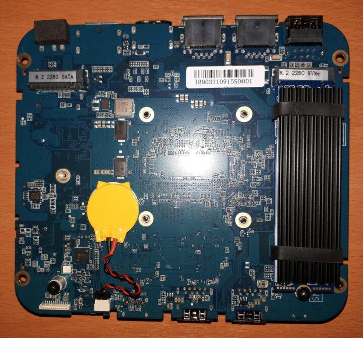 MINISFORUM X35G的主板底部