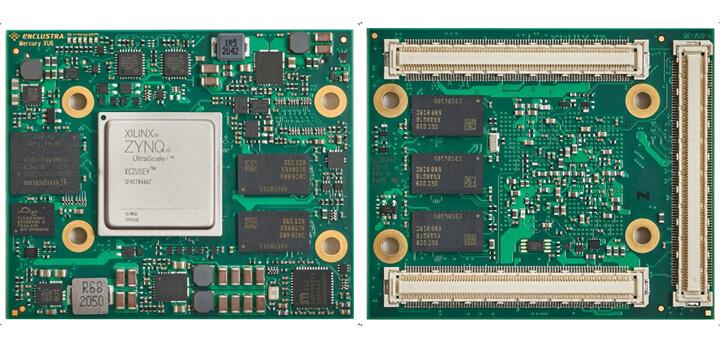Mercury+ XU6 模块正面(左)和反面(右)