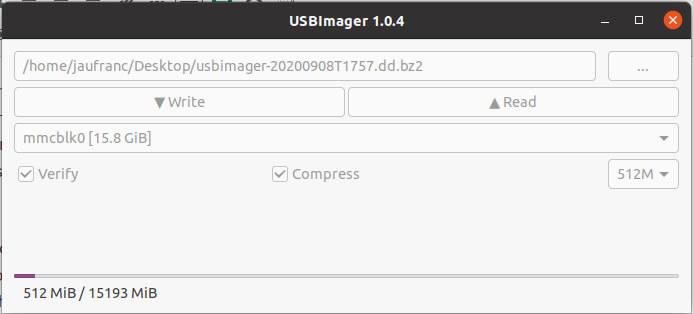 USBImager操作界面