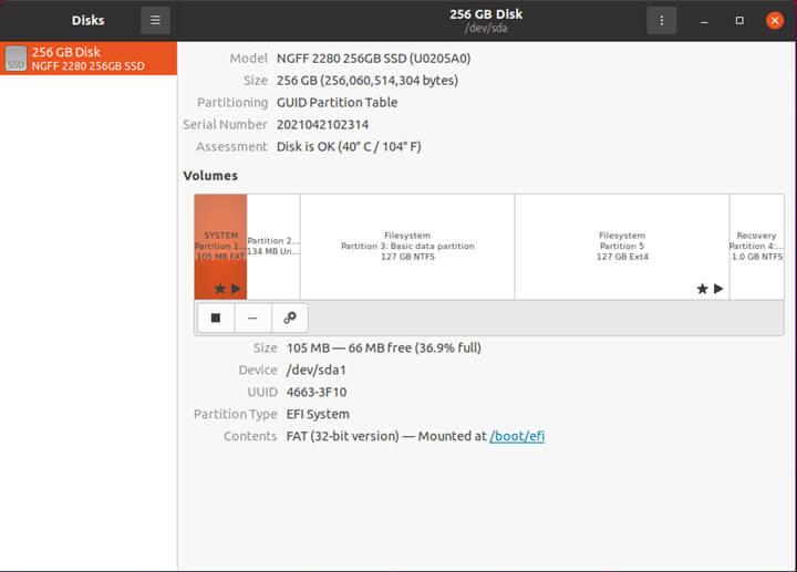 Ubuntu 20.04.2 下的硬件信息