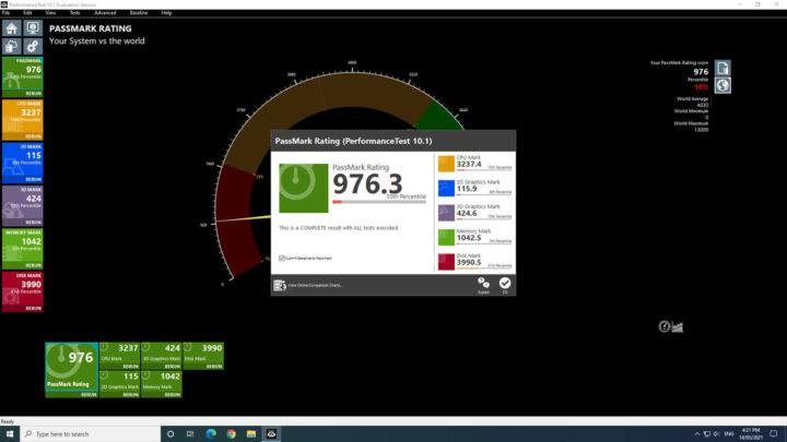 Windows 下的基准性能测试