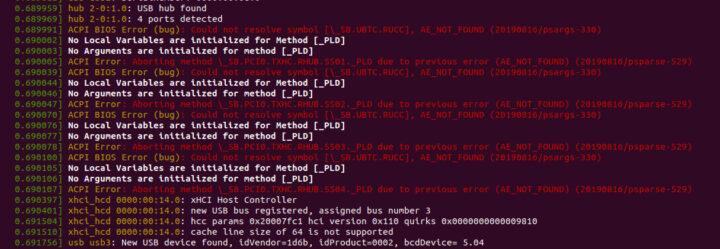 dmesg ACPI BIOS 错误