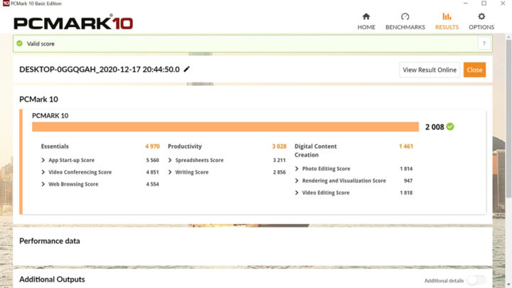 pcmark10测试结果