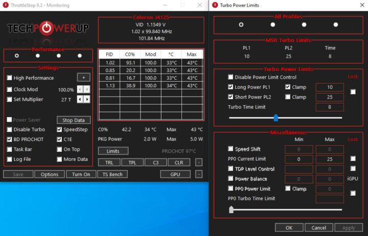 使用ThrottleStop应用程序调整功率
