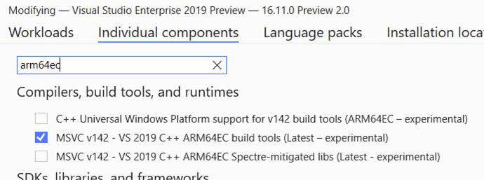 在 Windows 11上使用ARM64EC