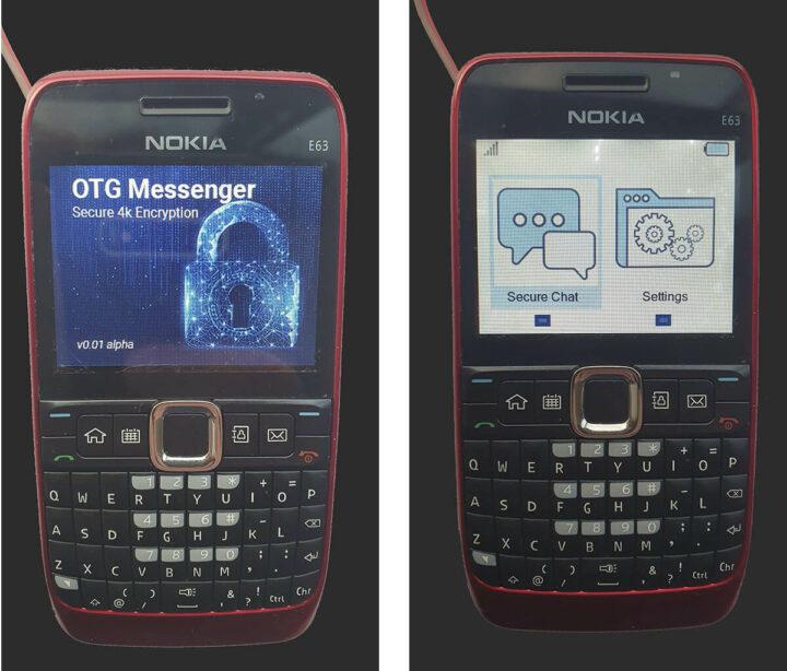 诺基亚 E63改造的LoRa 短信机