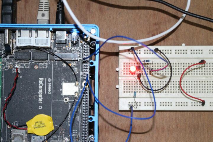 通过arduino接口连接LED