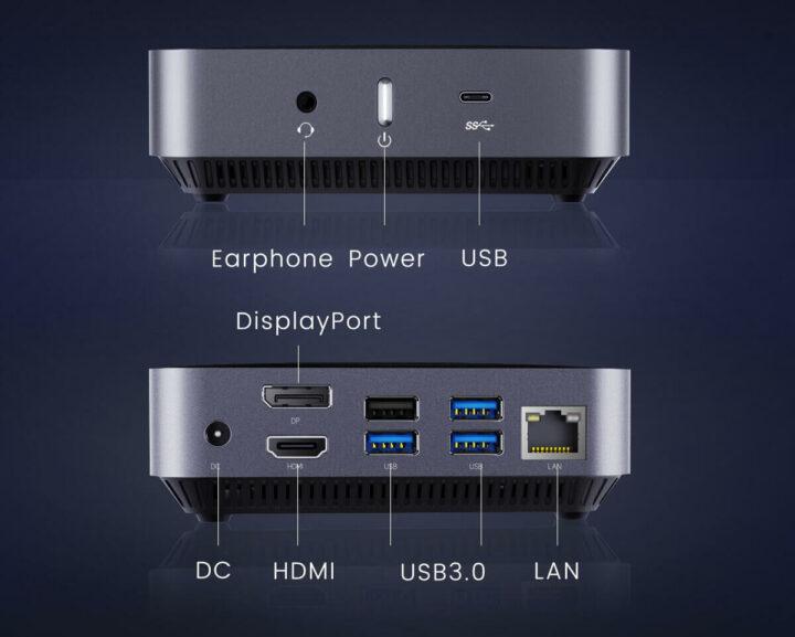 AMD速龙300U迷你PC的各接口和外设