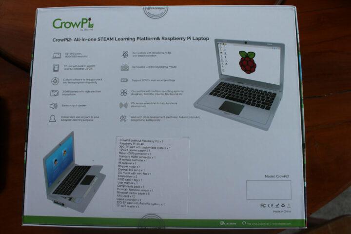 CrowPi2学习套件包装背面