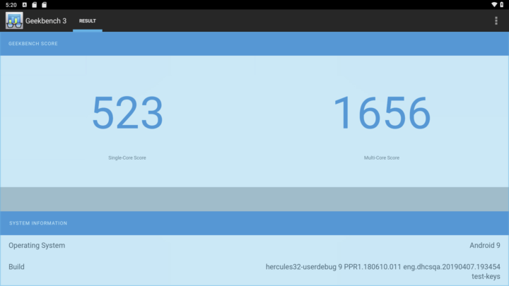 Geekbench3测试中系统单核/多核的得分