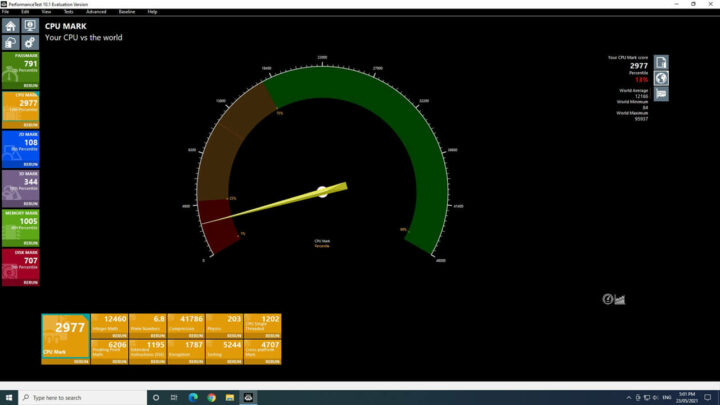 MeLE Quieter2 在window中运行CPU测试的结果