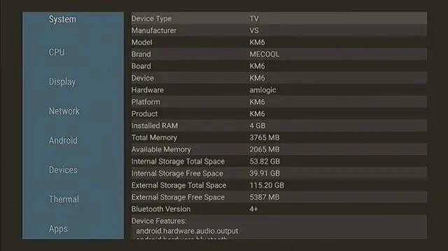 Mecool KM6电视盒详细参数
