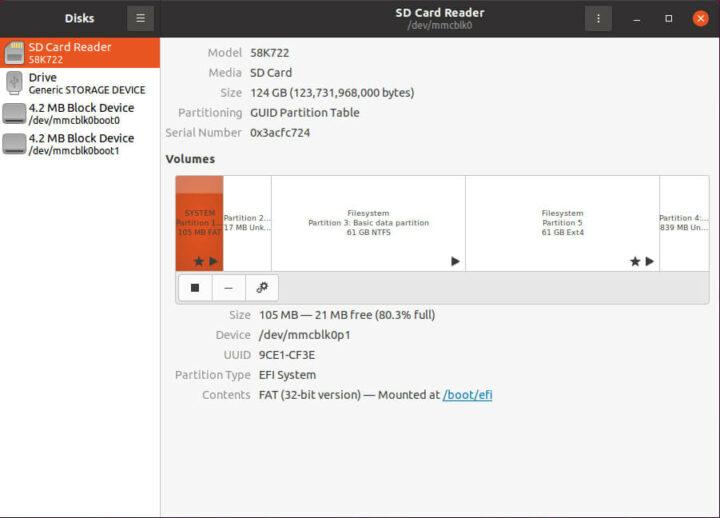 Quieter2在Ubuntu 20.04.2上的硬件信息