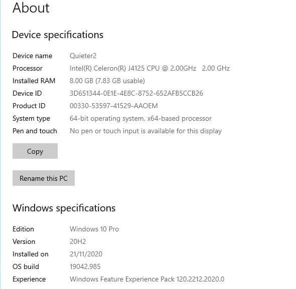 windows 设备信息