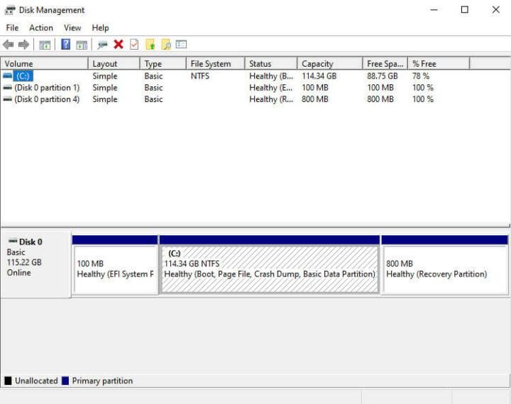 windows 10磁盘管理参数