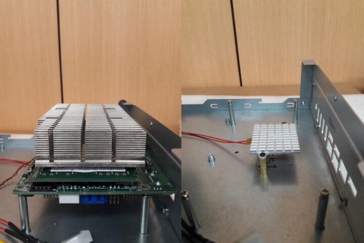 安装在机箱中的AMD锐龙1.8英寸SBC
