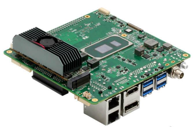 安装有UPAI Core XM 2280 M.2 模块的UP Xtreme i11 SBC
