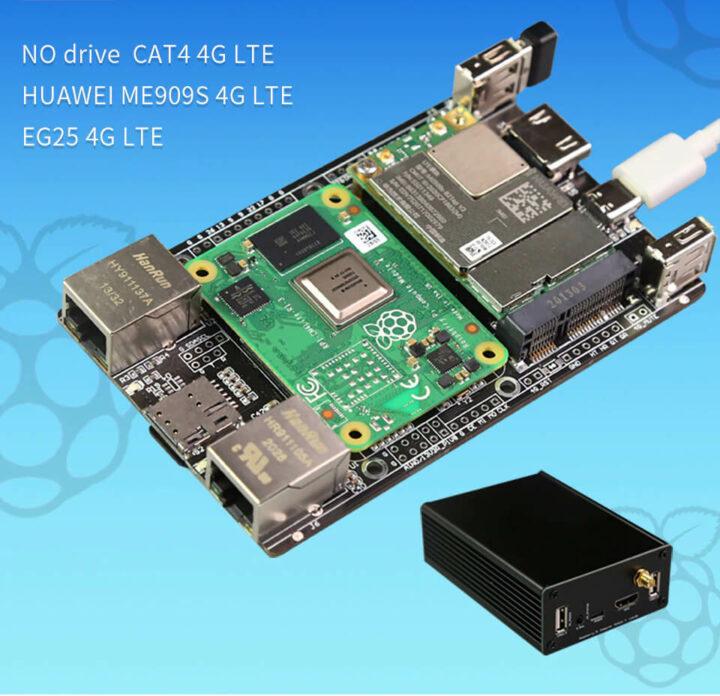 带有4G LTE的树莓派CM4-4G IO板