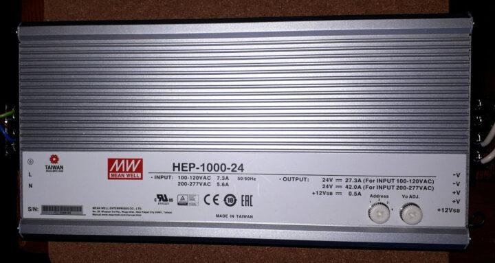 明纬HEP-1000-24电源