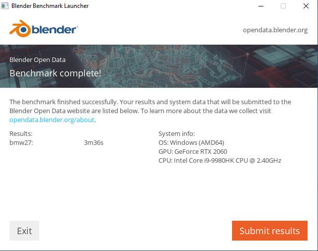 超频NUC9i9QNX blender bmw benchmark
