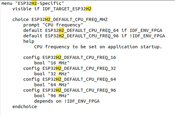 96 MHz频率的ESP32-H2