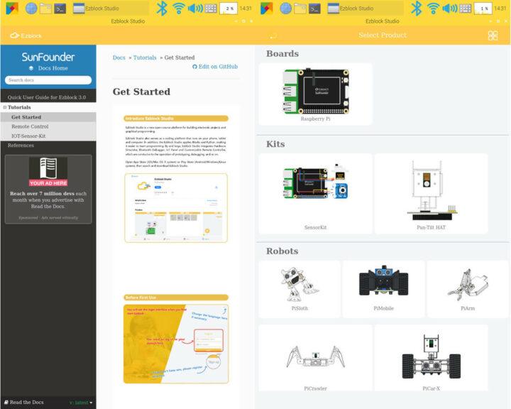 Ezblock Studio开始选择产品