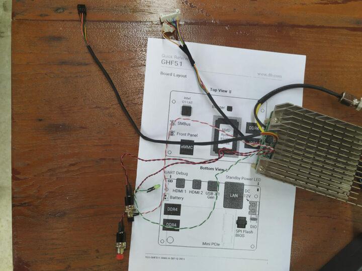 GHF51 前面板和 SMBus 电缆连接